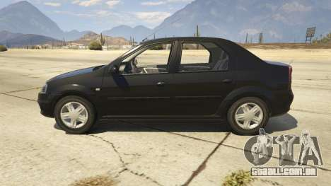 GTA 5 2008 Dacia Logan v2.0 FINAL vista lateral esquerda