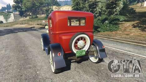 GTA 5 Ford Model A [mafia style] traseira vista lateral esquerda