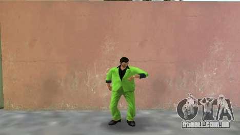 Terno verde para Tommy para GTA Vice City segunda tela