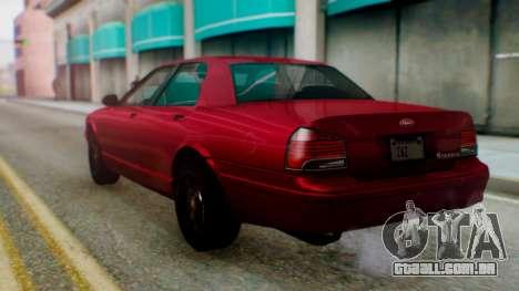 GTA 5 Vapid Stanier II para GTA San Andreas esquerda vista
