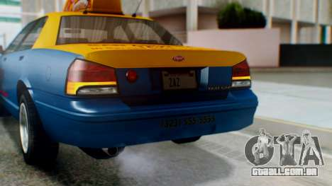 Vapid Taxi with Livery para GTA San Andreas vista superior