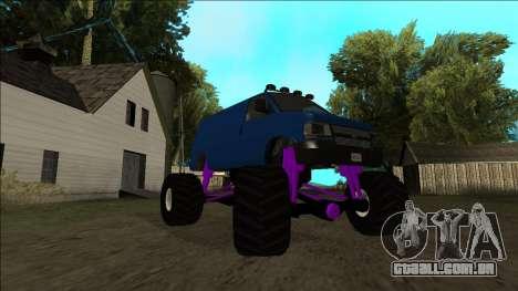 GTA 5 Vapid Speedo Monster Truck para GTA San Andreas interior