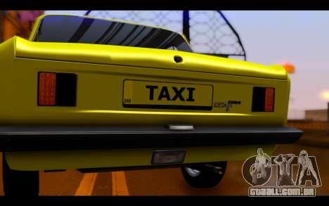 Zastava 125PZ Taxi para GTA San Andreas vista interior