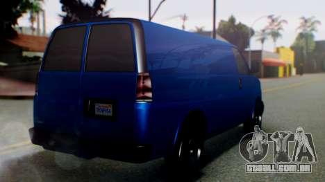 GTA 5 Vapid Speedo para GTA San Andreas esquerda vista