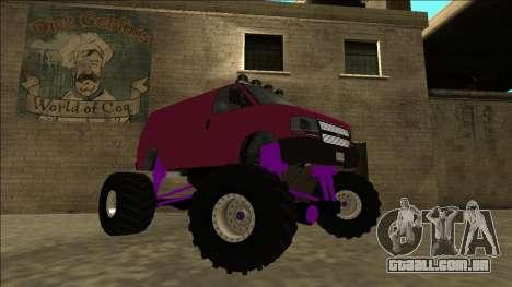 GTA 5 Vapid Speedo Monster Truck para GTA San Andreas vista direita