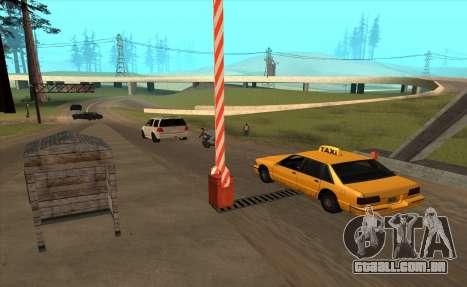 Personalizado para GTA San Andreas por diante tela