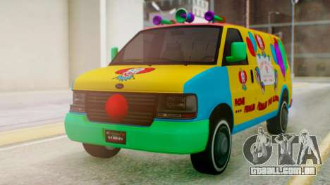 GTA 5 Vapid Clown Van para GTA San Andreas vista direita