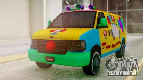 GTA 5 Vapid Clown Van para GTA San Andreas vista direita