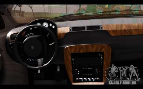 GTA 5 Declasse Sheriff Granger IVF para GTA San Andreas traseira esquerda vista