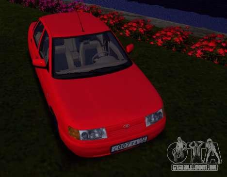 VAZ 2110 KBR para GTA San Andreas traseira esquerda vista