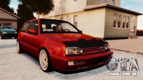 Volkswagen Golf VR6 1998 DTD Tuned para GTA 4 traseira esquerda vista