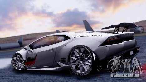 Lamborghini Huracan 2013 Liberty Walk [SHARK] para GTA San Andreas vista direita