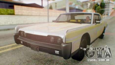 GTA 5 Vapid Chino Tunable IVF para GTA San Andreas vista superior