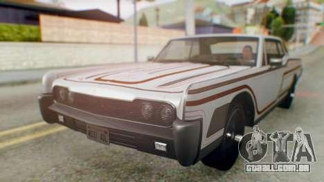GTA 5 Vapid Chino Tunable IVF para as rodas de GTA San Andreas