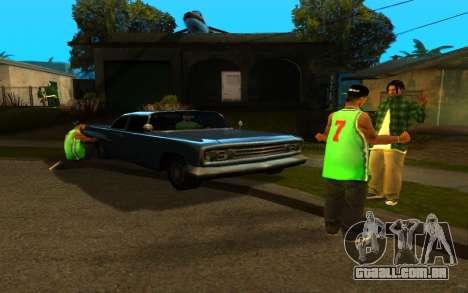 O avivamento da rua ganton para GTA San Andreas segunda tela