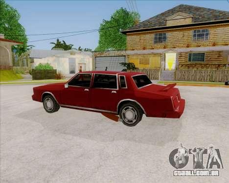 TahomaNew v1.0 para GTA San Andreas esquerda vista