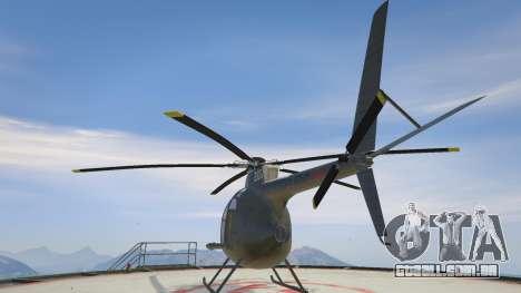 GTA 5 Hughes OH-6 Cayuse terceiro screenshot