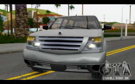 GTA 5 Albany Cavalcade IVF para GTA San Andreas vista interior