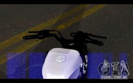 Honda CG Titan 150 Stunt Imitacion para GTA San Andreas traseira esquerda vista