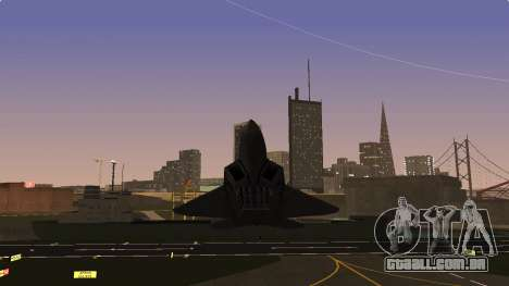 F-22 Raptor PJ para GTA San Andreas vista traseira