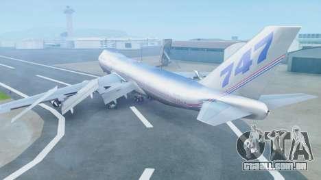 Boeing 747-400 Prototype (N401PW) para GTA San Andreas esquerda vista