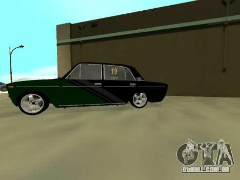 Vaz 2106 Ex animo Esporte para GTA San Andreas traseira esquerda vista