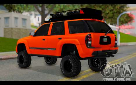 Chevrolet Traiblazer Off-Road para GTA San Andreas esquerda vista