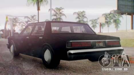 Unmarked Police Cutscene Car Normal para GTA San Andreas esquerda vista