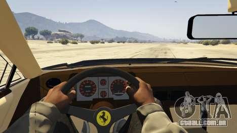 GTA 5 1984 Ferrari Testarossa 1.9 traseira direita vista lateral