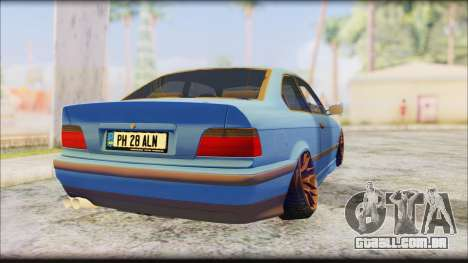 BMW M3 E36 Stanced-Hella para GTA San Andreas esquerda vista