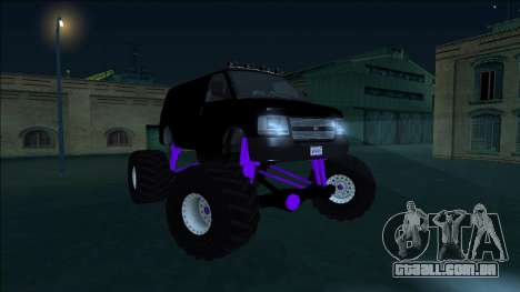 GTA 5 Vapid Speedo Monster Truck para GTA San Andreas vista interior