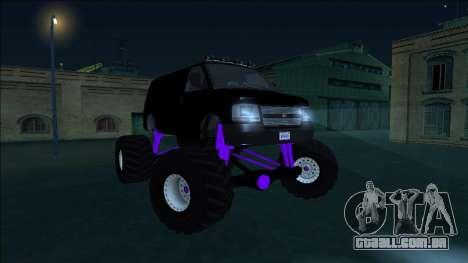 GTA 5 Vapid Speedo Monster Truck para GTA San Andreas vista interior