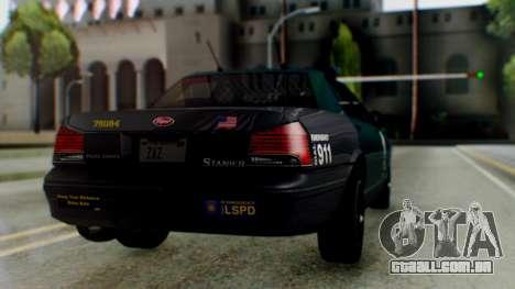 GTA 5 Vapid Stanier II Police IVF para GTA San Andreas esquerda vista