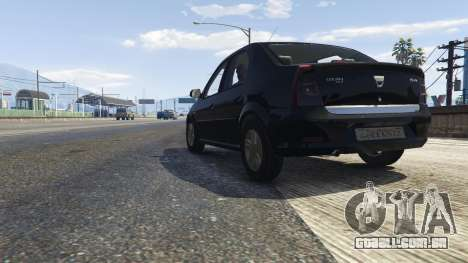 GTA 5 2008 Dacia Logan v2.0 FINAL voltar vista