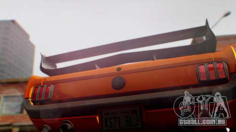 Ford Mustang 1966 Chrome Edition v2 Monster para GTA San Andreas vista traseira