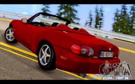 Mazda MX-5 para GTA San Andreas esquerda vista