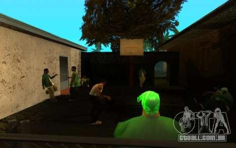 O avivamento da rua ganton para GTA San Andreas sexta tela