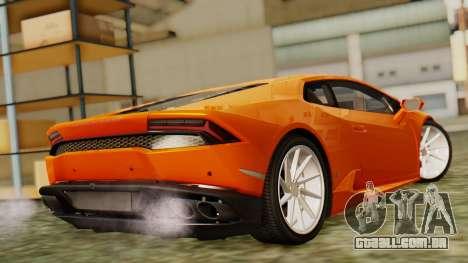 Lamborghini Huracan LP610-4 2015 para GTA San Andreas esquerda vista