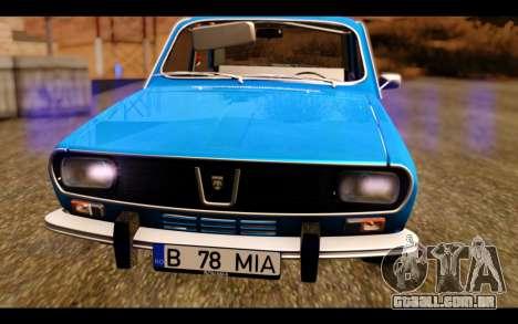 Dacia 1300 1969 para GTA San Andreas vista traseira