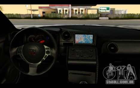Nissan GT-R Policija para GTA San Andreas vista interior
