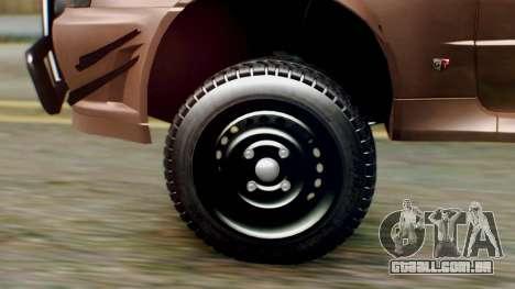 Nissan Skyline GT-R R34 RAID Spec para GTA San Andreas traseira esquerda vista