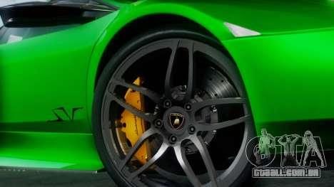 Lamborghini Murcielago LP670-4 SV 2010 para GTA San Andreas vista direita