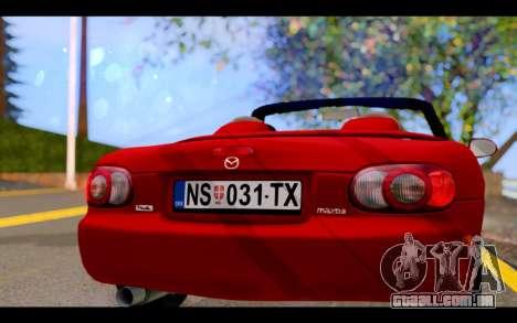 Mazda MX-5 para GTA San Andreas vista interior
