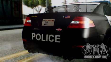 GTA 5 Police LS para vista lateral GTA San Andreas