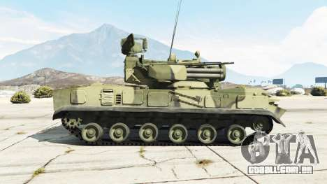 GTA 5 2К22 Tunguska vista lateral esquerda