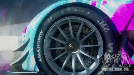 Mercedes-Benz SLS AMG GT3 2015 Hatsune Miku para GTA San Andreas vista direita