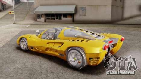 Ferrari P7 Normal para GTA San Andreas traseira esquerda vista