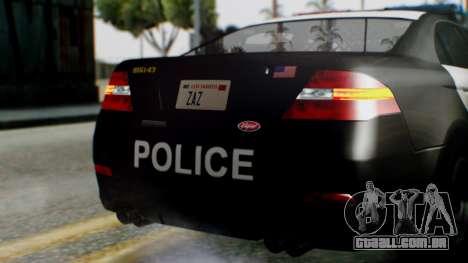 GTA 5 Police LS para GTA San Andreas vista superior