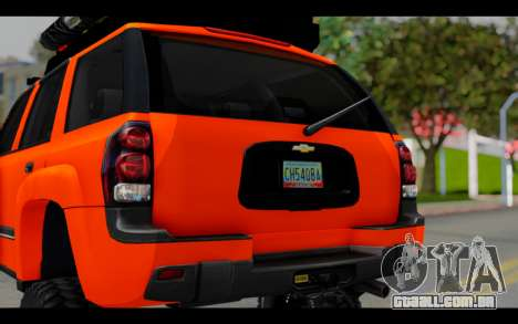 Chevrolet Traiblazer Off-Road para GTA San Andreas vista interior