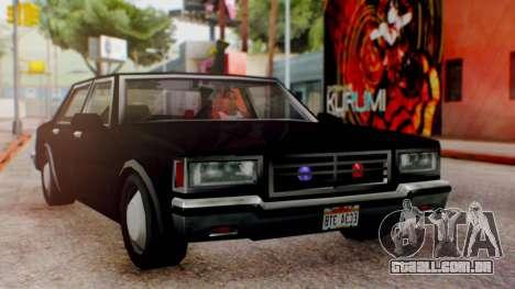 Unmarked Police Cutscene Car Normal para GTA San Andreas